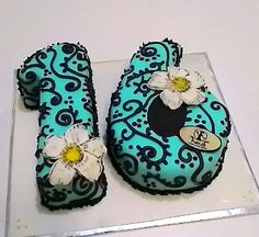 Happy Sweet Sixteen*girly design blue*Nesa b'day