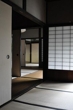 Japanese sliding door for the south side mezzaine. Japanese Style House, Traditional Japanese House, Japanese Home Decor, Asian Home Decor, Traditional Interior, Japan Interior, Japanese Interior Design, Japanese Design, Washitsu
