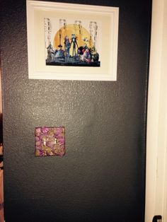 Liven up bedroom switch plate. Roses from my sweetheart.