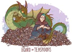 HOARD OF TEASPOONS PRINT · IGUANAMOUTH · Online Store Powered by Storenvy