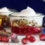 Spicy Cranberry Chia Jam & Cardamom Cinnamon Chocolate Granola Healthy Vegan Breakfast, Chocolate Granola, Dessert Recipes, Desserts, Plant Based Recipes, Cinnamon, Spicy, Food, Gourmet