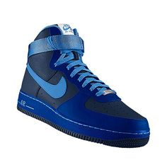 blue airforce ones