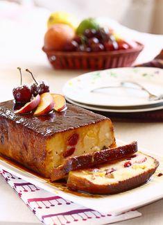 Fruit Pudding for the Holidays In Spanish Healthy Dessert Recipes, Baking Recipes, Delicious Desserts, My Dessert, Breakfast Dessert, Gelatina Jello, Different Cakes, Pudding Desserts, Gluten Free Treats