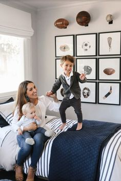 Crystal Palecek, Editor-In-Chief of Rue Magazine, partnered with RH Interior Design to create a perfectly classic shared room for her two boys.