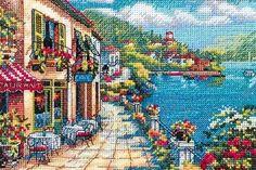 Stickerei-Cafe am Ufer (Größe)