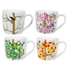 Tea & Coffee Accessories, Modern Designer Mugs, Teapots & Espresso Makers Yellow Apple, To Go, Coffee Accessories, Ceramic Mugs, Mugs Set, Mug Designs, Four Seasons, Gifts In A Mug, Drinking Tea