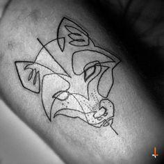 No.68 One-line fox (Art by Moganji) #tattoo #oneline #continuousline #fox #line #moganji #bylazlodasilva