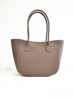 Italian shoulder bag high quality in stiff by TuscanyLeatherIdeas