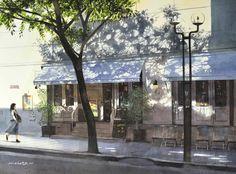 光と影のパターン,Pattern of light and shadow,Watercolor painting by Masato