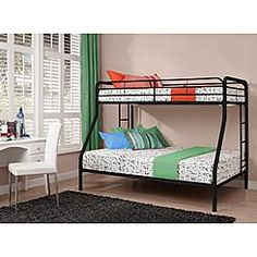 Dorel Home Furnishings Twin Over Full Bunk Bed Black