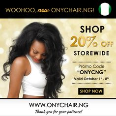 HAPPY INDEPENDENCE Nigeria! In Celebration of Nigeria's Independence Day, our CEO's Native Country!  ‪#‎ONYCHair has launched its Nigerian Site with a Store-wide ‪#‎hair Sale!  Shop Now>>> ONYCHair.ng