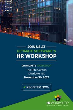 RSVP now for our complimentary HR workshop, happening November 30th at the Ritz-Carlton in Charlotte, NC! Join us for this year-end legal update as we discuss important case law developments and what you can expect for 2018. Full agenda here: http://ulti.pro/2AtQNGZ