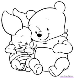 Baby pooh bear coloring pages ba pooh coloring pages disney Disney Winnie The Pooh, Baby Disney, Disney Art, Bear Coloring Pages, Disney Coloring Pages, Coloring Books, Colouring, Baby Piglets, Baby Looney Tunes
