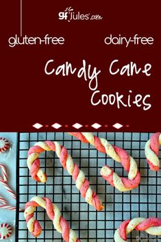 My favorite part about these gluten free candy cane cookies is that they're sweetened with real candy canes! Gluten Free Christmas Cookies, Best Christmas Cookie Recipe, Gluten Free Sugar Cookies, Easy Gluten Free Desserts, Gluten Free Donuts, Gluten Free Banana Bread, Best Gluten Free Recipes, Allergy Free Recipes, Gluten Free Cakes