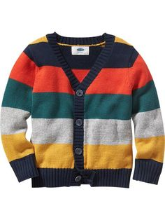 Color-Block Cardigan for Baby