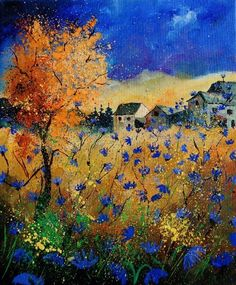 I have a few more pictures to show you before I stop for the night. This artist is no stranger here Pol Ledent ( Belgian artist ). Oil Painting Abstract, Watercolor Paintings, Landscape Artwork, Art Forms, Painting Inspiration, Cool Art, Art Photography, Fine Art, Nature
