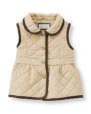 Janie and Jack Fall 2014- This quilted vest would be the perfect essential piece for any little girl's wardrobe.