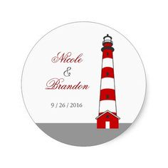 Lighthouse Wedding Sticker