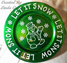 Nothin' Fancy: Snowman Charger Plate