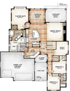 2640 sq ft Avon Model Looking for something fabulous and functional? Experience the Avon model plan and you will find fabulous functionality. Casual Ranch-style living at its finest,