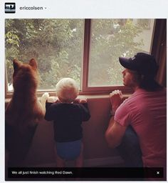 Eric Christian Olsen and son | Baby Love | Pinterest ...