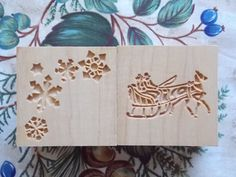 CORZETTI  Pasta Cube ~ JB Corzetti Pasta Cube ~ 6 Stamp Designs in 1 ~ Christmas Cube #2 ~ Unique Wood Gift Ideas by TheWoodGrainGallery - pinned by pin4etsy.com