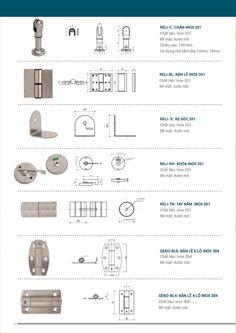 Catalogue phụ kiện vách ngăn vệ sinh