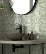 Loving this feature pressed tin look tile - available in 5 colours