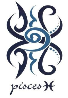 "pieces+zodiac+Sign+Tattoos | Pisces Zodiac Sign Temporary Body Art Tattoos 2.5"" x 3.5"" ... 