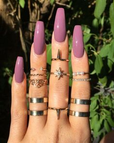 Semi-permanent varnish, false nails, patches: which manicure to choose? - My Nails Nails Yellow, Mauve Nails, Aycrlic Nails, Purple Nails, Perfect Nails, Gorgeous Nails, Pretty Nails, Fabulous Nails, Coffin Nails Long