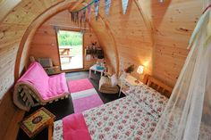 Beautiful interior of one of the three Mega Pods at Battlebridge Glamping Park Carrick-on-Shannon.