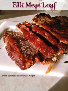 A recipe for Elk Meat Loaf made with elk eggs tomato sauce onion bread crumbs salt black pepper brown sugar Dijon Elk Burger Recipe, Elk Meat Recipes, Deer Recipes, Meatloaf Recipes, Cooking Recipes, Game Recipes, Recipies, Easy Meatloaf, Cooking