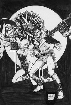 Howard Chaykin's original art for *The Scorpion,* issue 1.