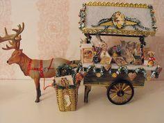 Christmas Cart with Reindeer