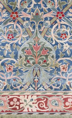 A William Morris 'Hammersmith' Carpet, hand knotted for #Morris&Co, designed by John Henry Dearle