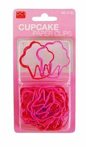 These cupcake shaped paper clips would be perfect for a recipe book.