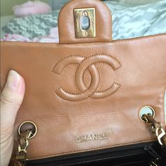 Chanel vintage square mini Vintage Chanel bag . This bag is already authenticated. Beautiful camel color. Still in great used condition. No authenticity card. Come with original dust bag. CHANEL Bags