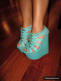cute light blue wedges The Shopping Fans