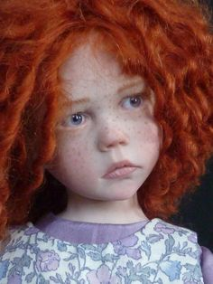 Looks like .so real. Deviant Art, Garden Embroidery, Real Doll, Realistic Dolls, Vinyl Dolls, Creepy Dolls, Child Doll, Ginger Hair, Ooak Dolls