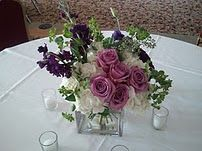 Pinks and purples centerpiece