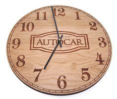 Custom Wall Clocks made with all real wood wood wall clock
