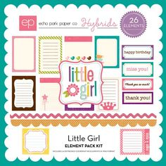 Little Girl element pack 2 includes 31 elements