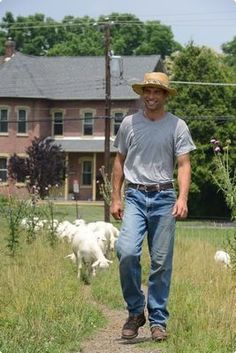 Ben Masemore returned to Berks County after a long absence to rent his uncle's Washington Township farm, where he raises sheep and goats.| Reading Eagle - BERKSCOUNTRY