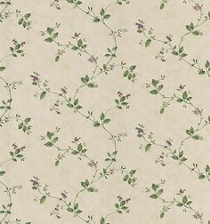 Eva Beige Floral Trail Wallpaper