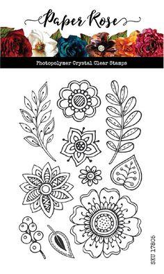 Simple Flower Drawing, Flower Art Drawing, Floral Drawing, Flower Pattern Drawing, Simple Flower Design, Flower Patterns, Rose Doodle, Floral Doodle, Zen Doodle