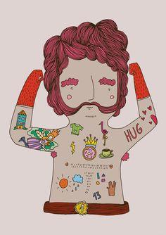 Bears Tattoo series by Herbert Loureiro