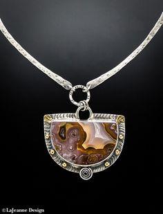 Agua Nueva Agate sterling silver necklace