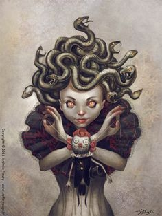 a young Medusa from artist Jeremie Fleury, 2011