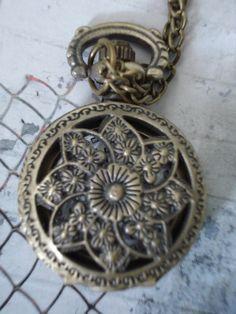 SALE 10  OFF Necklace Pendant Bronze Mini by Azuraccessories, $5.93