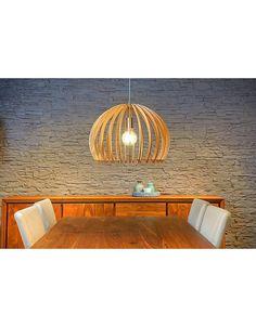 Houten luster wit of houtkleur 500mm diameter